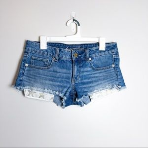 American Eagle Shortie Shorts Star Pockets